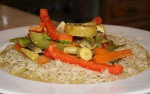 curry de légumes végétarien