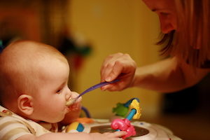 bébé végétarien