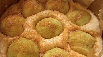 gâteau aux pommes vegan